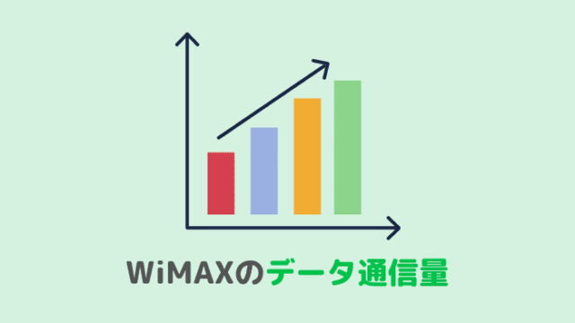 WiMAXのデータ通信量